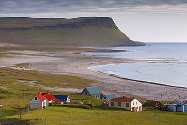 Small village in the West Fjords, near Latrabjarg cliffs in the south-western tip of the West Fjords (Vestfirdir), Iceland, Polar Regions