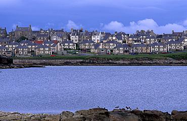 Lerwick seafront, Mainland, Shetland Islands, Scotland, United Kingdom, Europe