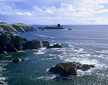 Hillswick Ness and The Drongs, Eshaness, Northmavine, Shetland Islands, Scotland, United Kingdom, Europe