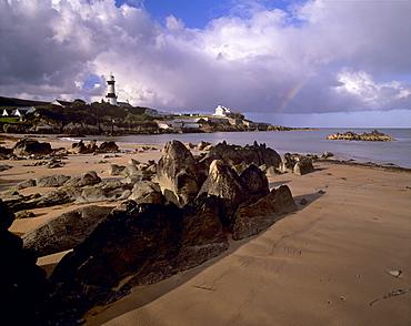 Dunagree Point lighthouse, Inishoven peninsula, County Donegal, Ulster, Republic of Ireland, Europe