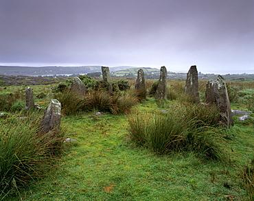 Ardgroom, Neolithic Stone Circle, one of the best preserved in Ireland, Beara Peninsula, County Cork, Munster, Republic of Ireland, Europe