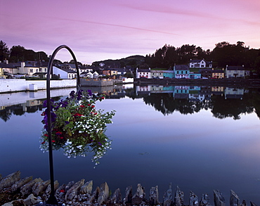 Union Hall harbour at sunset, Union Hall, County Cork, Munster, Republic of Ireland, Europe