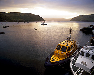 Portree harbour, Portree, Isle of Skye, Inner Hebrides, Scotland, United Kingdom, Europe
