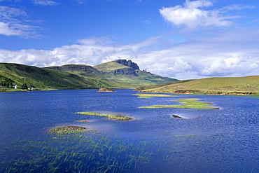 Loch Fada and the Storr, 719m, Isle of Skye, Inner Hebrides, Scotland, United Kingdom, Europe