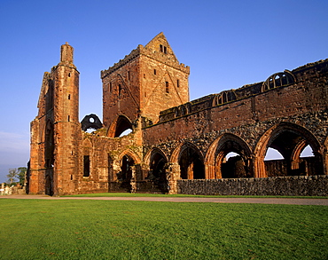 Sweetheart Abbey, Cistercian abbey dating from the 13th and 14th centuries, New Abbey, Dumfries and Galloway, Scotland, United Kingdom, Europe