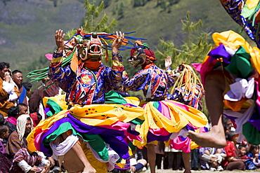 Buddhist festival (Tsechu), Haa Valley, Bhutan, Asia