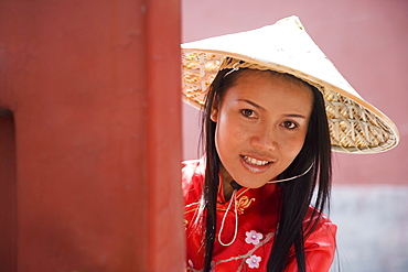 Asian woman (Chinese-Thai), The Forbidden City, Beijing, China, Asia