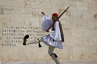 Guard at the Greek Parliament, Athens, Greece, Europe