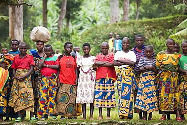 Group of women, Village of Masango, Cibitoke Province, Burundi, Africa