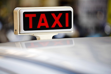 Taxi, Milan, Lombardy, Italy, Europe
