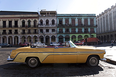 Old car outside the Capitolio, Havana, Cuba, West Indies, Central America