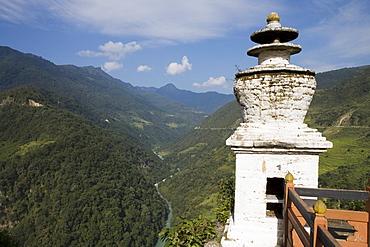 Puna Tsang River, Trongsa Dzong, Trongsa, Bhutan, Asia