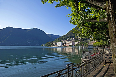 Lake of Lugano, Lugano, Canton Tessin, Switzerland, Europe