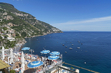 View of Positano, on the Amalfi Coast, UNESCO World Heritage Site, Campania, Italy, Europe