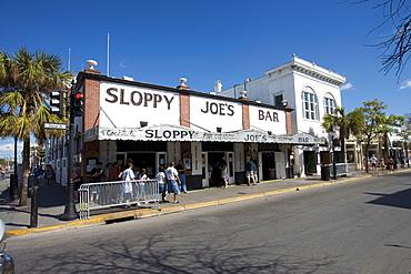 Sloppy Joe's Bar in Duval Street, Key West, Florida, United States of America, North America