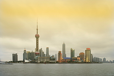 Pudong district and the Oriental Pearl Tower, Shanghai, China, Asia