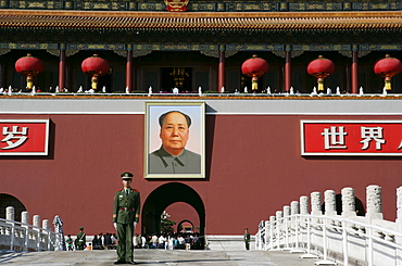 The Heavenly Gate to the Forbidden City, Tiananmen Square, Beijing (Peking), China, Asia - 772-485