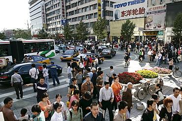 Wangfujing Dajie shopping district, Beijing, China, Asia