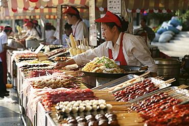 Wangfujing Snack Road, Wangfujing Dajie shopping district, Beijing, China, Asia