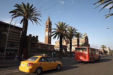 The main street of Harnet Avenue, Asmara, Eritrea, Africa