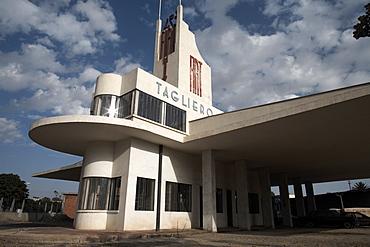 The futuristic Fiat Tagliero Building, Asmara, Eritrea, Africa