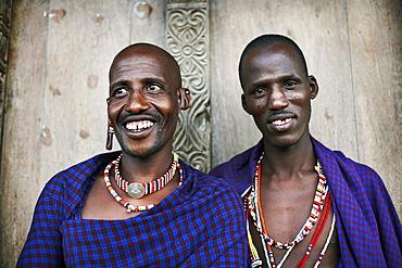 Maasai tribesmen on the island of Lamu, Kenya, East Africa, Africa