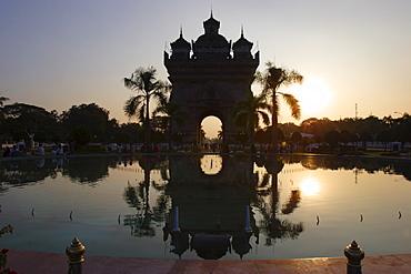 Patuxai monument, Vientiane, Laos, Indochina, Southeast Asia, Asia