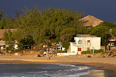 The beach at Tofo on the Indian Ocean, Mozambique, Africa