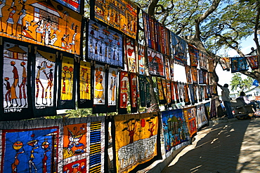 African artwork for sale at Maputo's Craft Market, Maputo, Mozambique, Africa
