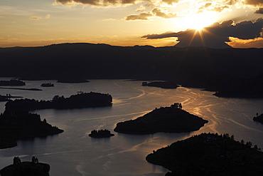 Lake Bunyoni, Uganda, East Africa, Africa