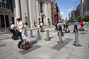 People ride Segway Personal Transporters in Washington D.C, United States of America, North America