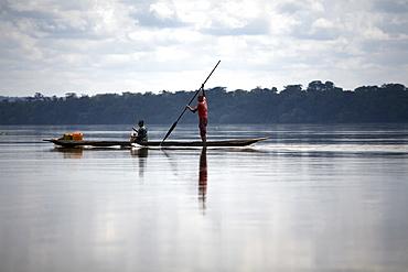 River traffic on the Congo River, Democratic Republic of Congo, Africa