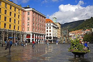 Torgalmenningen Street, Bergen, Norway, Scandinavia, Europe