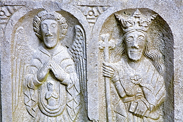 Stone Carving at Jerpoint Abbey, County Kilkenny, Leinster, Republic of Ireland, Europe