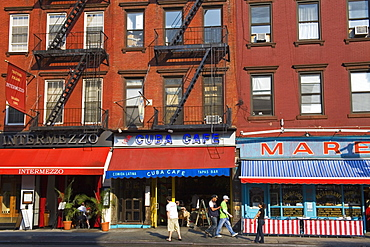 Restaurants on 8th Avenue in Chelsea District, Midtown Manhattan, New York City, United States of America, North America