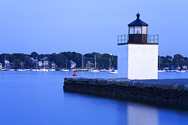 Derby Wharf Lighthouse, Salem, Greater Boston Area, Massachusetts, New England, United States of America, North America