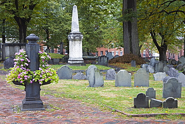 Copp's Hill Burying Ground, Freedom Trail, North End District, Boston, Massachusetts, New England, United States of America, North America