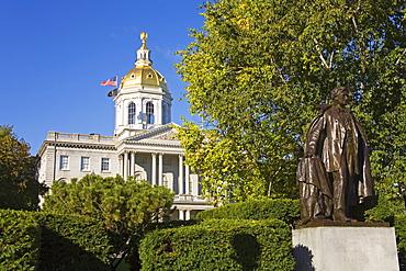 Franklin Pierce statue, State Capitol, Concord, New Hampshire, New England, United States of America, North America
