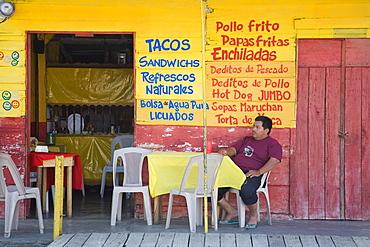 Restaurant in Puerto Corinto, Department of Chinandega, Nicaragua, Central America