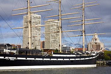 Moshulu Sailing Ship, Penns Landing, Waterfront District, Philadelphia, Pennsylvania, United States of America, North America