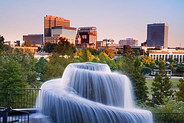 Finlay Park Fountain, Columbia, South Carolina, United States of America, North America