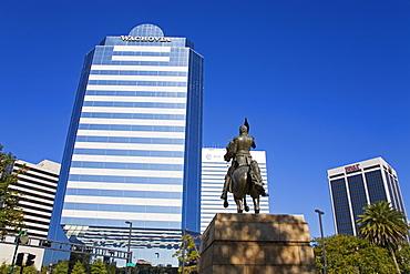 Andrew Jackson statue, Jacksonville, Florida, United States of America, North America