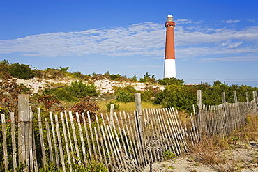 Barnegat Lighthouse in Ocean County, New Jersey, United States of America, North America