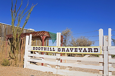 Boothill Graveyard Gate, Tombstone, Cochise County, Arizona, United States of America, North America
