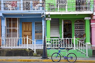 Calle Street in San Juan Del Sur, Department of Rivas, Nicaragua, Central America