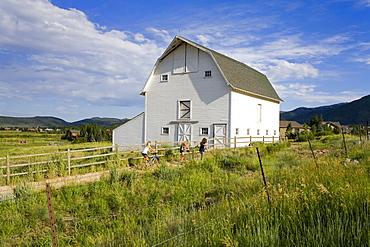 Barn at the Swaner Nature Preserve, Park City, Utah, United States of America, North America