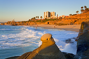 Hoodoo rock formation in La Jolla, San Diego County, California, United States of America, North America