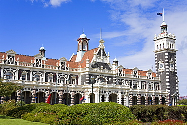 Railway Station, Central Business District, Dunedin, Otago District, South Island, New Zealand, Pacific