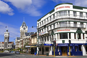 Stuart Street, Dunedin, Central Business District, Otago District, South Island, New Zealand, Pacific