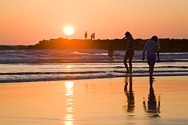 Newport Beach at sunset, Orange County, California, United States of America, North America